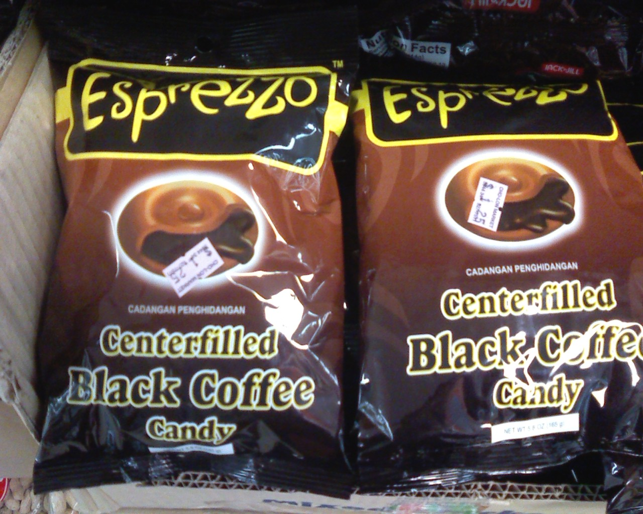 Esprezzo Candy Centerfilled Black Coffee Candy Sold In