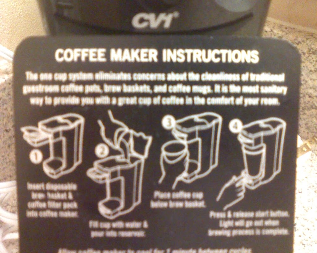 how to use the cv1 coffee maker