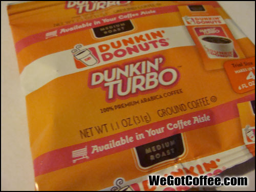 Dunkin Donuts Turbo Shot Coffee