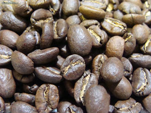Close-up Picture of Coffee Beans Wallpaper