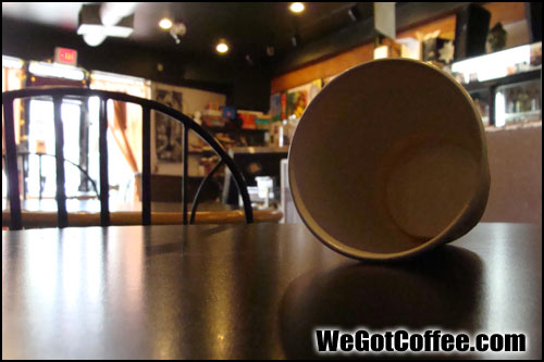 Empty Coffee Cup on its Side
