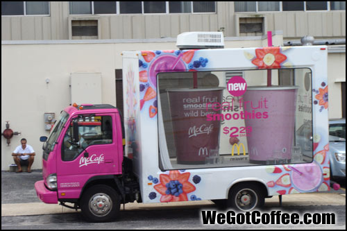 The McCafe Traveling Van