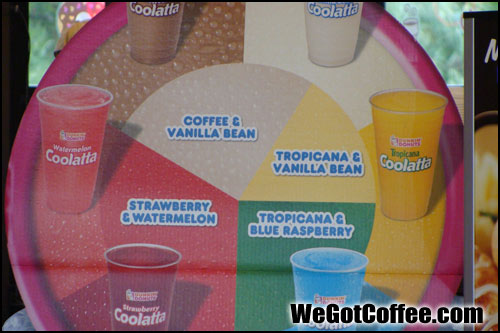 List of Coolatta Drinks at Dunkin Donuts