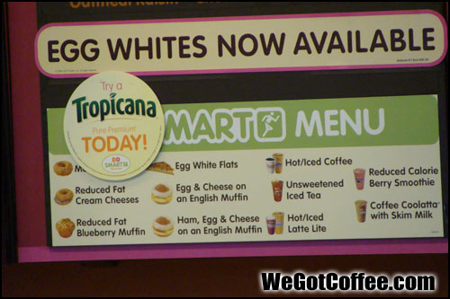 The Dunkin Donuts Smart Menu