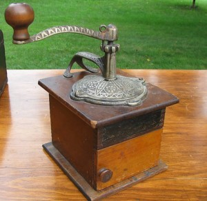 antique coffee grinder