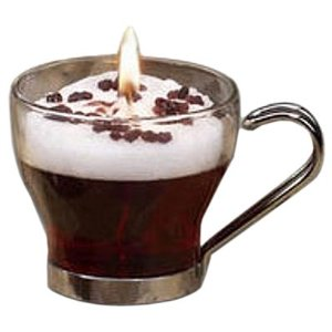 Glass Coffee Candle