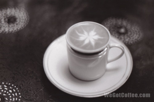 Black and White Latte Art
