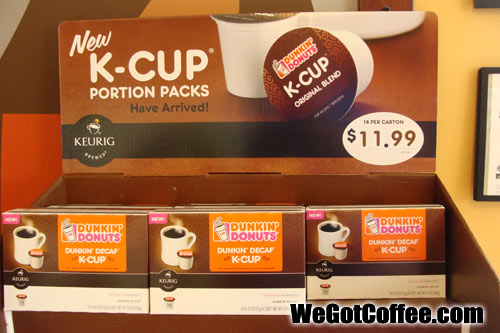 The Dunkin Donuts K-Cup Display