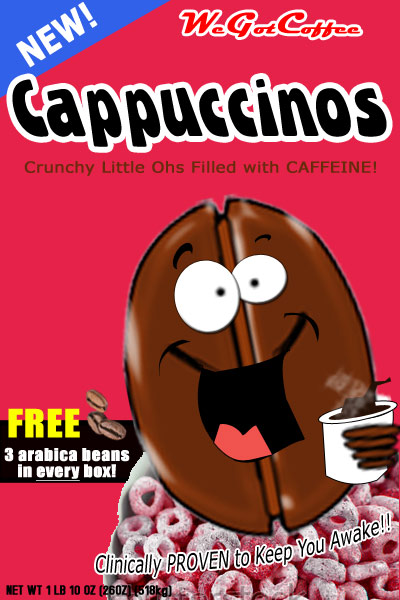 Cereal with Caffeine – Cappuccinos!