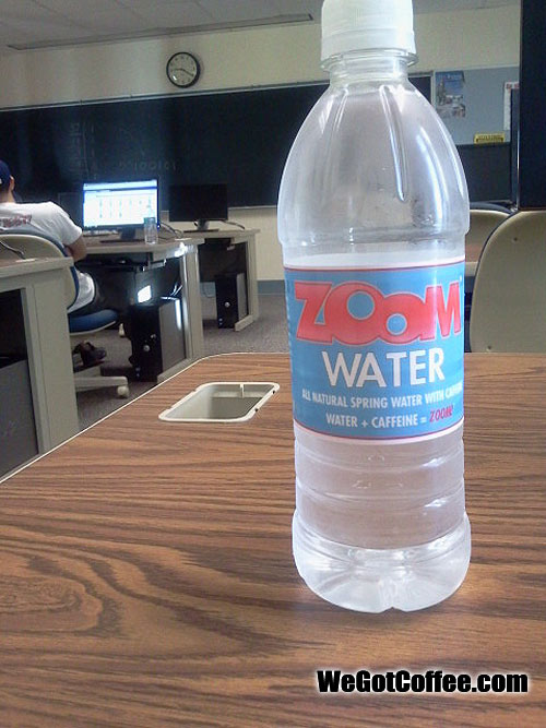 Zoom Water – Caffeinated Spring Water