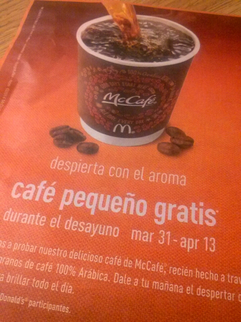 Free Coffee During Breakfast at McDonalds
