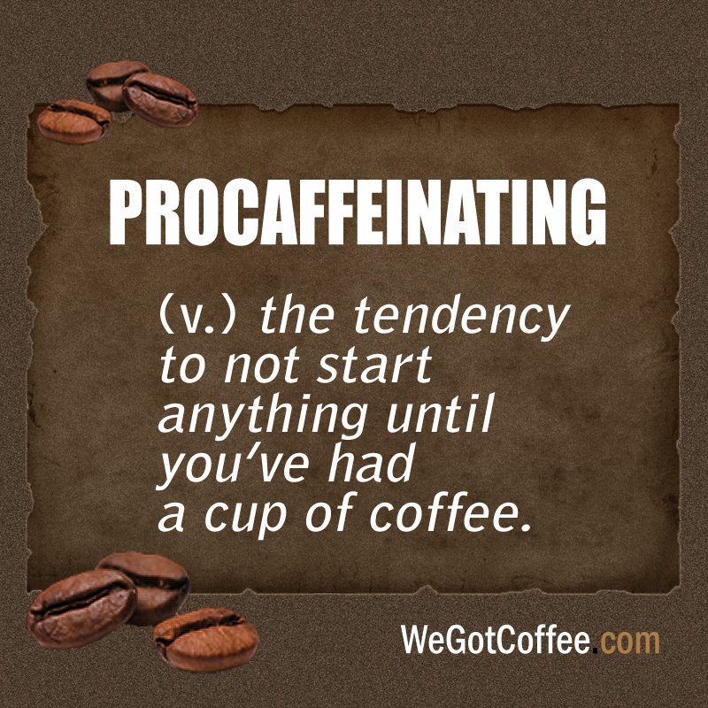 Procaffeinating Definition Card