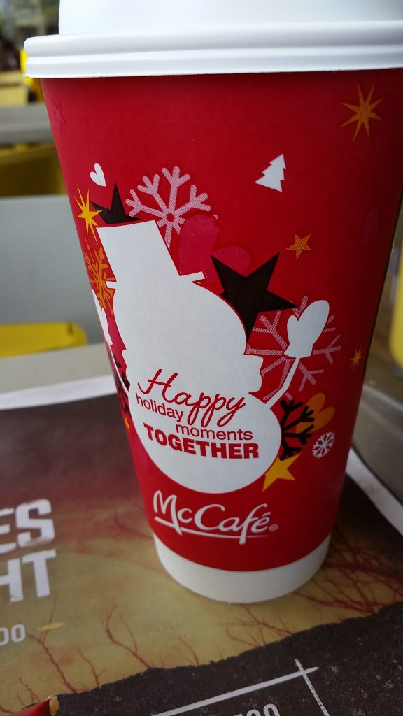 Holiday Cup Design at McDonalds