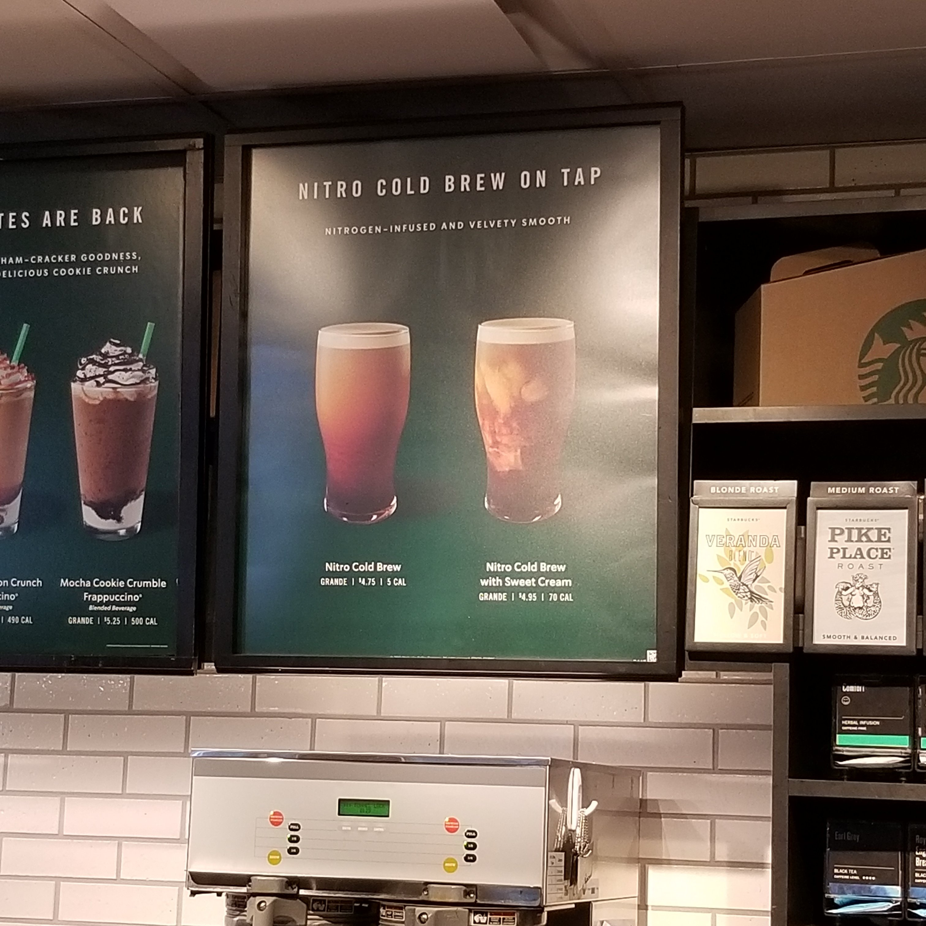 Starbucks Nitro Cold Brew Like Beer On Tap 5 Calories