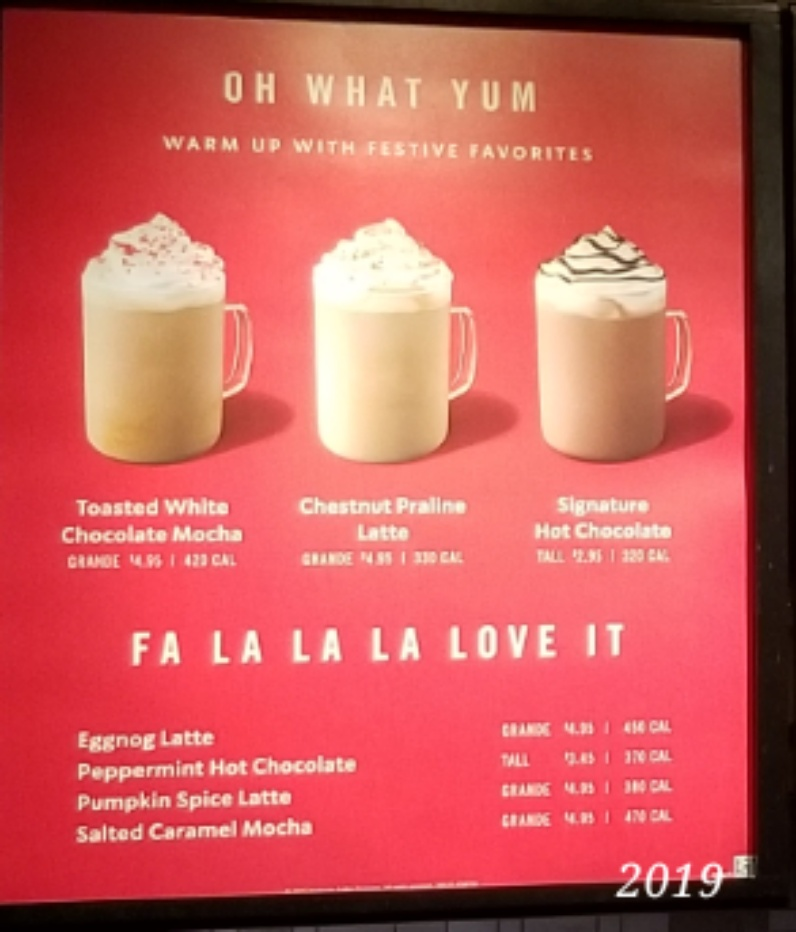 Starbucks Drink List