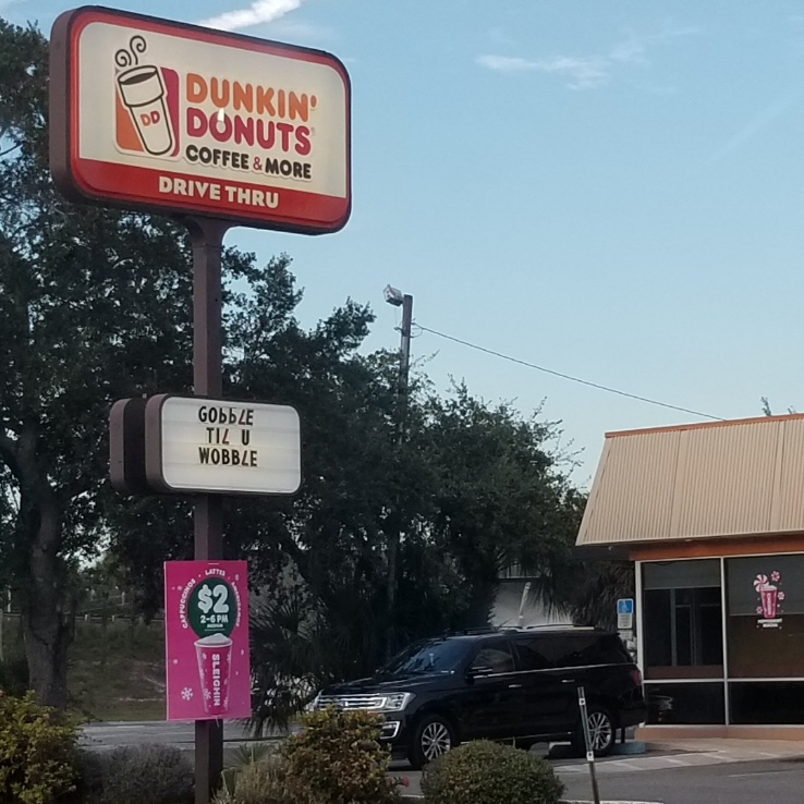 Funny Thanksgiving Message from Dunkin Donuts
