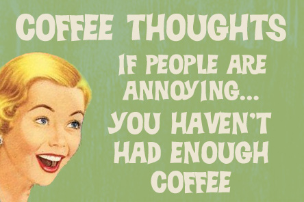 Retro Coffee Quote Cards